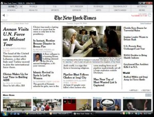 Screen shot of Times Reader