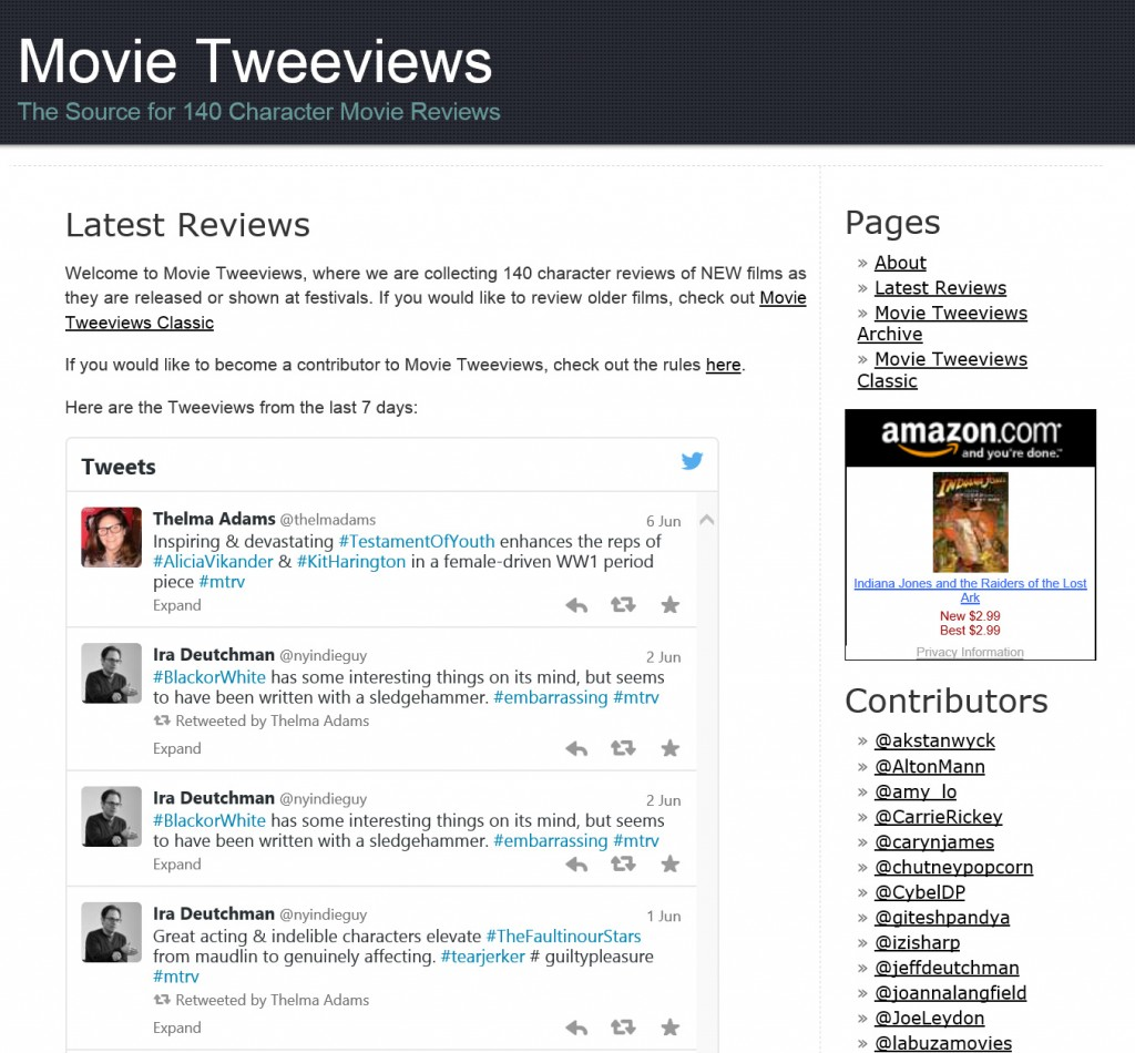 Movie Tweeviews