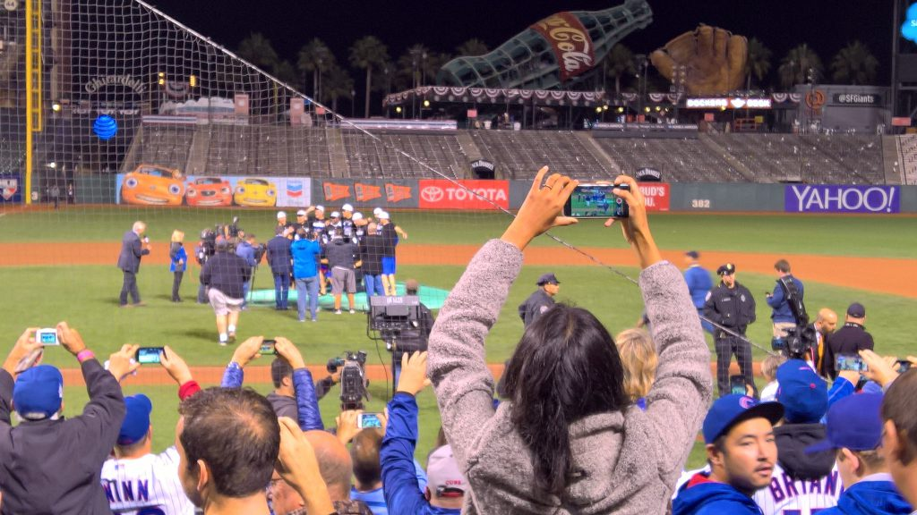 Cubs fans celebrate in SF